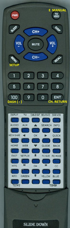 TOSHIBA 75033412 CT90428 Custom Built Replacement Redi Remote