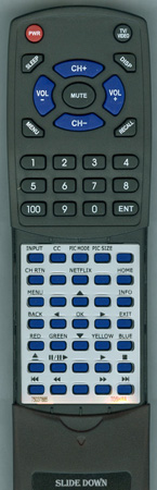 TOSHIBA 75037885 CT-8037 Custom Built Redi Remote Control