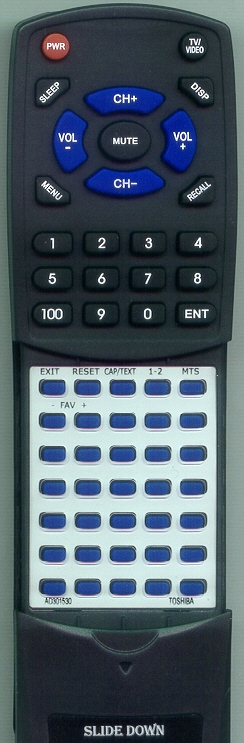 TOSHIBA RTAD301530  Genuine   Custom Built Replacement Redi Remote