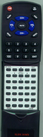 TOSHIBA AE006385 CT-877 Custom Built Redi Remote