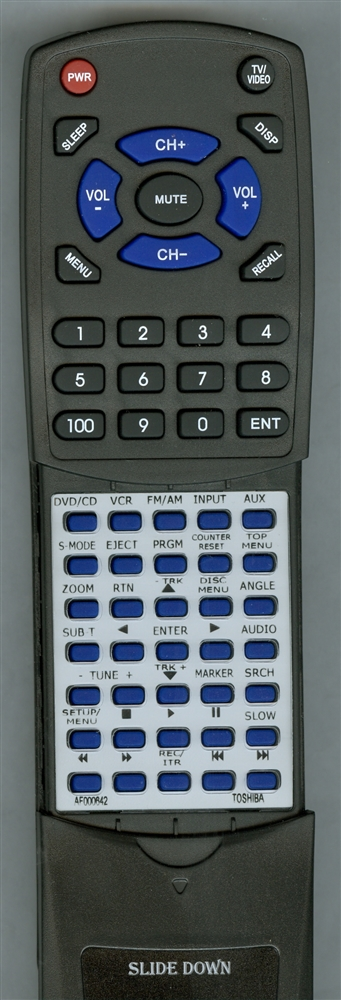 TOSHIBA AF000642 SE-R0135 Custom Built Replacement Redi Remote