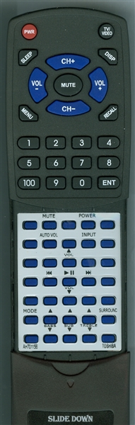 TOSHIBA AH701156 SER0451<B>Custom Built Replacement Redi Remote