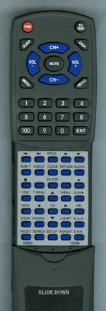 TOSHIBA AH800001 SE-R0127 Custom Built Replacement Redi Remote