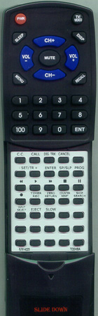 TOSHIBA BZ614223 VC-L4B Custom Built Replacement Redi Remote