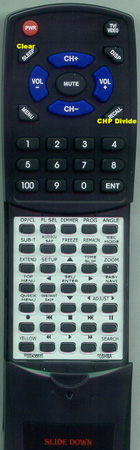 TOSHIBA P000438630 SER0176 Custom Built Redi Remote