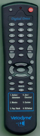 VELODYNE 80DDREMOTE Genuine  OEM Original Remote