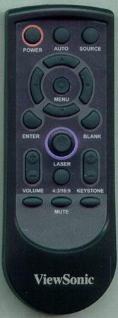 VIEWSONIC A-00003062 Genuine OEM Substitute Remote