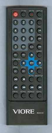 VIORE 118020199 RC3010V Genuine OEM Original Remote