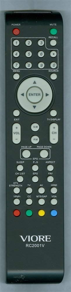 VIORE 504C2411102 RC2001V Genuine  OEM original Remote