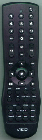 VIZIO 6150BC0-R RCVZ01 Genuine  OEM Original Remote