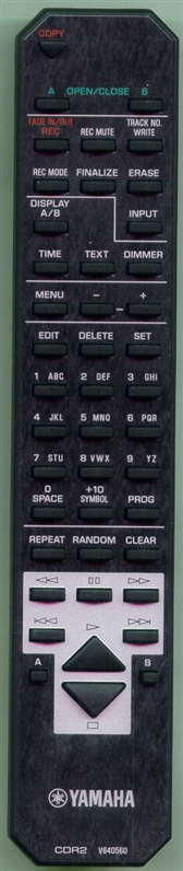 YAMAHA V6405600 CDR2 Genuine OEM Original Remote