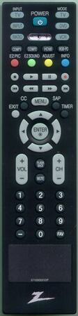 ZENITH 6710900010P Genuine  OEM original Remote