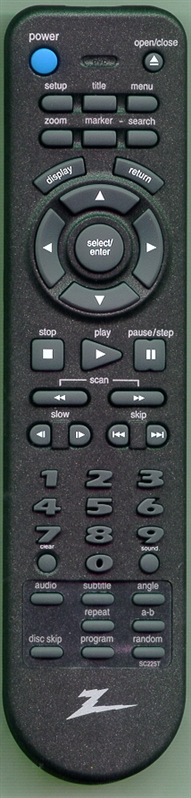 ZENITH 924-10093 SC225T Genuine  OEM original Remote