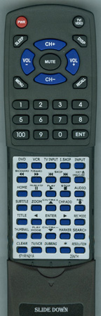 ZENITH 6711R1N211A Custom Built Replacement Redi Remote