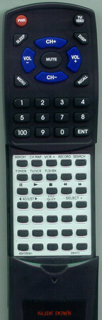 ZENITH 924-10003-01 MBR337099 Custom Built Replacement Redi Remote