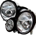96-99 M-Benz E Class W210 Projection Headlights - Chrome