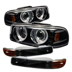 GMC Yukon & Yukon XL 00-06 / GMC Sierra 99-06 Projector Headlights w/ Bumper Lights - Black