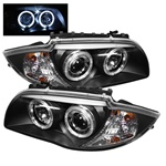 BMW E87 1-Series 08-10 Halo Projector Headlights - Black
