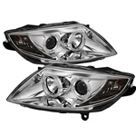 BMW Z4 03-08 Halo Projector Headlights - Chrome