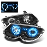 Chrysler 300M 99-04 Halo LED Projector Headlights - Black