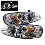 Chrysler Sebring 01-03 4DR & Convertible / Dodge Stratus 01-04 Halo Projector Headlights - Chrome