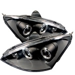 Ford Focus 00-04 Halo Projector Headlights - Black