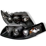 Ford Mustang 99-04 Halo Projector Headlights - Black