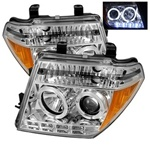 Nissan Frontier 05-08 / Pathfinder 05-07 Halo LED Projector Headlights - Chrome