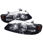 Nissan Sentra 00-03 1PC Halo LED Projector Headlights - Black
