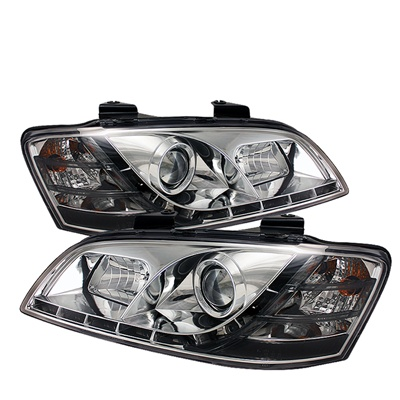 Pontiac G8 08-09 DRL LED Projector Headlights - Chrome