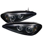 Pontiac Grand Am 99-05 Halo LED Projector Headlights - Black