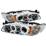 Pontiac Grand Prix 97-03 1PC CCFL Projector Headlights - Chrome