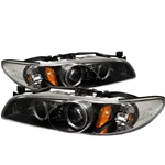 Pontiac Grand Prix 97-03 1PC Halo Projector Headlights - Black
