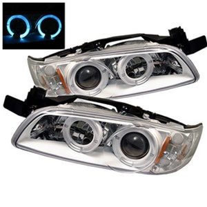 PONTIAC GRAND PRIX 97-03 PROJECTOR HEADLIGHTS 1PC HALO - WHITE