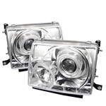 Toyota Tacoma 97-00 Halo LED Projector Headlights - Chrome
