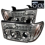Toyota Tundra 07-09 Halo Projector Headlights - Chrome