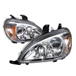 98-01 Mercedes Benz M Class Projector Headlights (amber) - Chrome