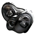 01-05 M-Benz C Class W 203 Projection Headlights - Black