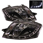 Audi TT 00-06 DRL LED Projector Headlights - Black