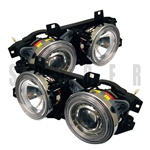 BMW E34 88-94 Halo Projector Headlights - Chrome