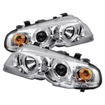 BMW E46 00-03 2DR 1PC Halo Projector Headlights - Chrome
