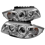 BMW E87 1-Series 08-10 Halo Projector Headlights - Chrome