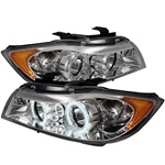BMW E90 3-Series 06-08 4DR Halo CCFL Amber Projector Headlights - Chrome