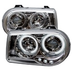 Chrysler 300C 05-07 CCFL LED Projector Headlights - Chrome