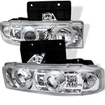 Chevy Astro 95-04 Halo Projector Headlights - Chrome