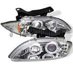 Chevy Cavalier 95-99 Halo Projector Headlights - Chrome