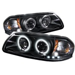 Chevy Impala 00-05 CCFL LED Projector Headlights - Black