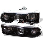 Chevy S10 98-02 Halo Projector Headlights - Black