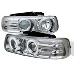 Chevy Silverado 99-02 CCFL LED Projector Headlights - Chrome
