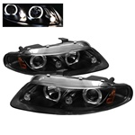 Dodge Avenger 97-00 / Sebring Coupe 97-00 Halo LED Projector Headlights - Black